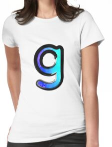 Watercolor - G - blue Womens Fitted T-Shirt