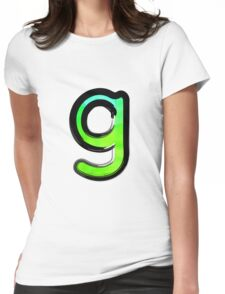 Watercolor - G - green Womens Fitted T-Shirt