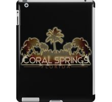 Coral Springs Florida palm tree design iPad Case/Skin