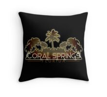 Coral Springs Florida palm tree design Throw Pillow