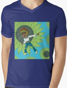 Funky Trainer Sunny Mens V-Neck T-Shirt