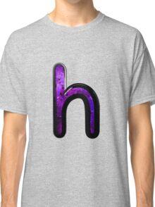 Watercolor - H - purple Classic T-Shirt
