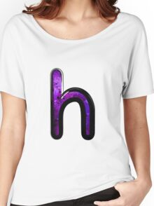 Watercolor - H - purple Women's Relaxed Fit T-Shirt