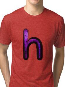Watercolor - H - purple Tri-blend T-Shirt