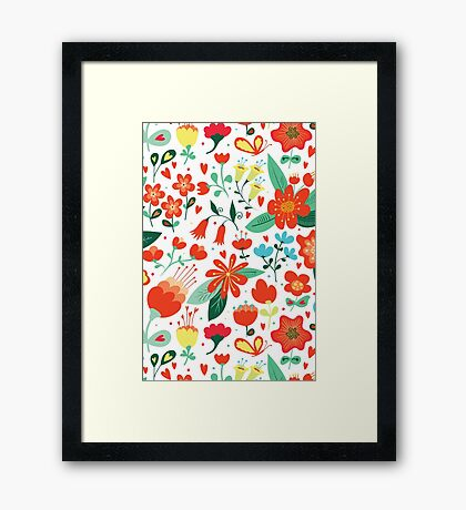 Cute flowers for Valentines Day Framed Print