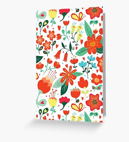 Cute flowers for Valentines Day Greeting Card