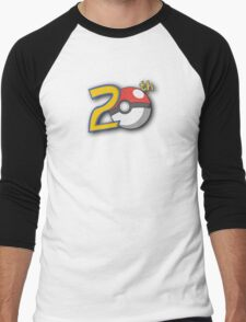 Pokemon's 20th Birthday! Men's Baseball ¾ T-Shirt