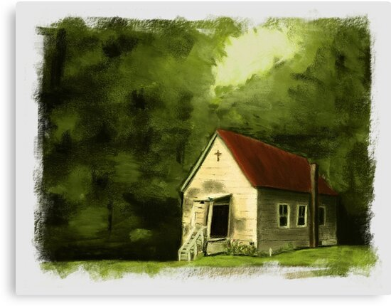 """Country Church 2""... prints and products by © Bob Hall"