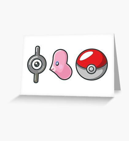 I luvdisc Pokemon Greeting Card