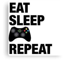 Eat sleep Xbox repeat  Canvas Print