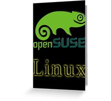 linux opensuse Greeting Card
