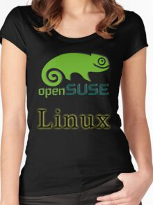 linux opensuse Women's Fitted Scoop T-Shirt