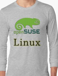 linux opensuse Long Sleeve T-Shirt