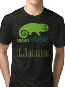 linux opensuse Tri-blend T-Shirt