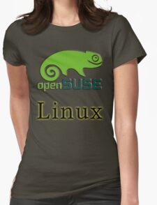 linux opensuse Womens Fitted T-Shirt