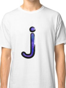 Watercolor -  J - purple Classic T-Shirt