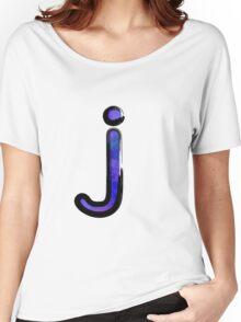 Watercolor -  J - purple Women's Relaxed Fit T-Shirt