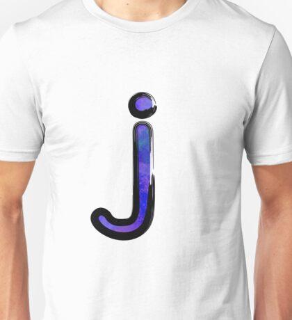 Watercolor -  J - purple Unisex T-Shirt