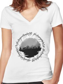 Roads Go Ever On Women's Fitted V-Neck T-Shirt