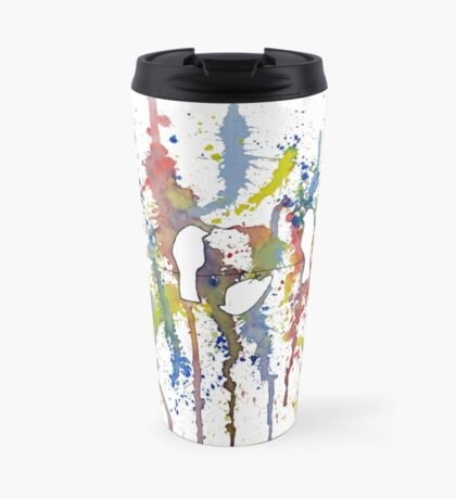 Birds watching fireworks - Deb breton Travel Mug
