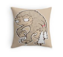 Sasquatch Friend Throw Pillow
