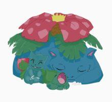 Sleepy Poké Grass Starters by SybawavesGirl