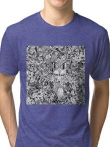 Hiding fox Tri-blend T-Shirt