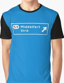 Middelfart, Road Sign, Denmark Graphic T-Shirt