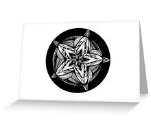 Star Tangles 5 Black - an Aussie Tangle by Heather - See Description Note for Colour Options Greeting Card