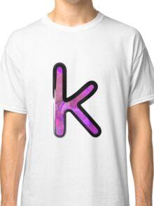 Watercolor - K - purple Classic T-Shirt