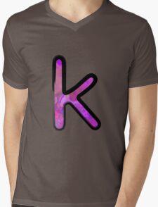 Watercolor - K - purple Mens V-Neck T-Shirt