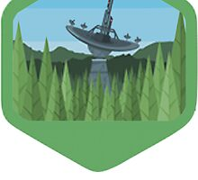 ENDOR - Forest Moon Emblem - Star Wars by TrendSpotter