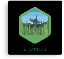 ENDOR - Forest Moon Emblem - Star Wars Canvas Print