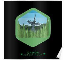 ENDOR - Forest Moon Emblem - Star Wars Poster
