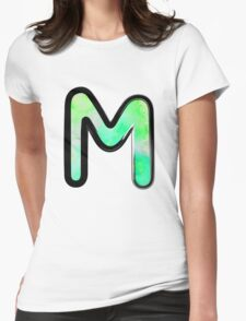 Watercolor - M - green Womens Fitted T-Shirt