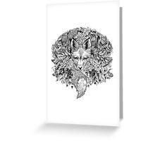 Hidden fox  Greeting Card