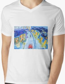 Waiting For The Train Mens V-Neck T-Shirt