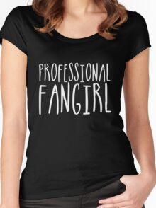 Professional Fangirl (inverted) Women's Fitted Scoop T-Shirt