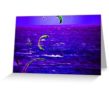 Neon Surfing Greeting Card