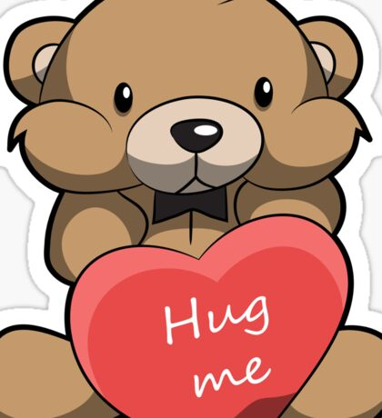 Cute Hug Me Teddy Bear Sticker