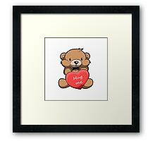 Cute Hug Me Teddy Bear Framed Print