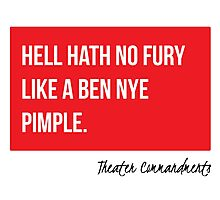 Hell Hath No Fury Like A Ben Nye Pimple Photographic Print