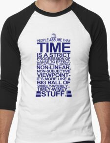 DOCTOR WHO TYPOGRAPHY Doc Dr BBC Tardis Time Dalek New Tenth Timey Wimey T-Shirt