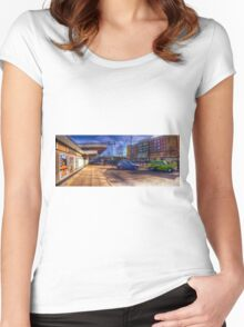 Harlow Town Station Women's Fitted Scoop T-Shirt