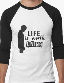 Life Is Worth A Living // Purpose Pack // Men's Baseball ¾ T-Shirt
