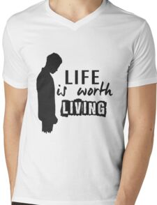 Life Is Worth A Living // Purpose Pack // Mens V-Neck T-Shirt