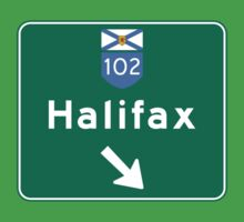 Halifax, Nova Scotia, Road Sign, Canada Kids Tee