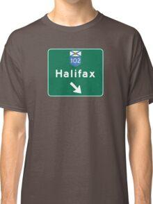 Halifax, Nova Scotia, Road Sign, Canada Classic T-Shirt