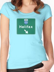 Halifax, Nova Scotia, Road Sign, Canada Women's Fitted Scoop T-Shirt