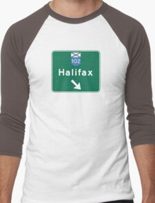 Halifax, Nova Scotia, Road Sign, Canada Men's Baseball ¾ T-Shirt